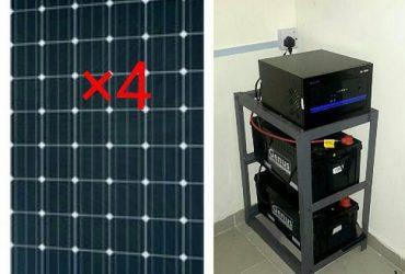 Solar Powered 2.5kva Inverter Installation With 4 Solar Panels