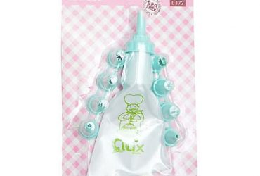 Cake Decorating Bag with 9 Nozzles – Teal Green