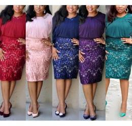 LADIES RITZY SKIRT AND BLOUSE