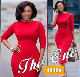 LADIES EXTRAVAGANT FITTED CORPORATE GOWN 9