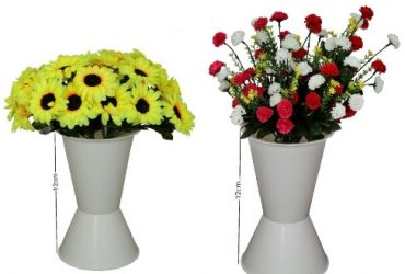 Plastic Standing Vase 2 Set