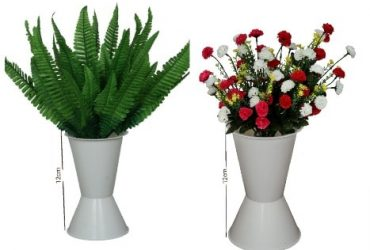 Mini Flowers With 2 Standing Plastic .