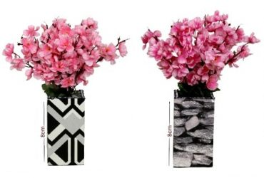 Wooden Table Vases With Blossom Flowe…