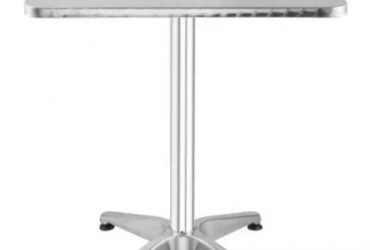 Bistro Bar Table Square Top Stainless