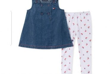 Kids Jean Gown and Trousers