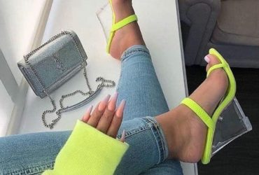 Glass Wedge Ladies Slippers