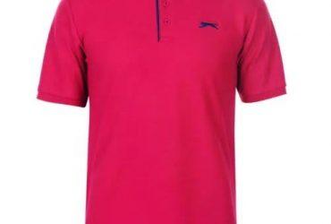 Slazenger Men Plain Polo-Pink