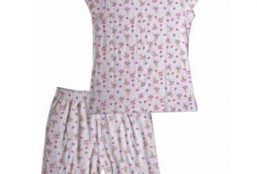 Girls Flowery Short Sleeve