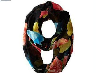 Calvin Klein Women's Floral Silk Scarf- Multicolour