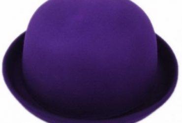 Silverjoe's Purple Bowler Hat