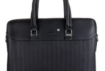 Mont Blanc Spotted Design Bag   Black