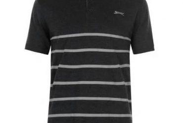 Slazenger Men Jaquard Polo Shirt -Gre…