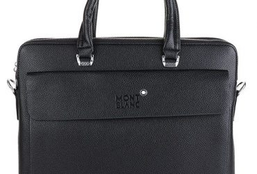 Mont Blanc Stingray Leather Bag | Black