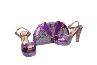 Palmeri Purple Shoe And Bag