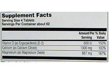 Calcium Citrate & Magnesium +vitamin D 250 Tablets
