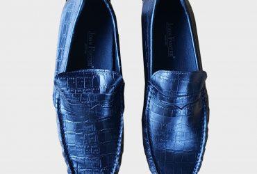Men's Croc Leather Drivers | Black