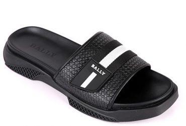 Bally Strap Slippers   Black