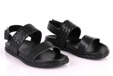 Bottega Veneta Wooven Sandal | Black