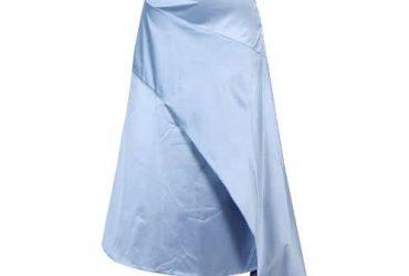 Canill Wrap Frill Long Skirt – Blue