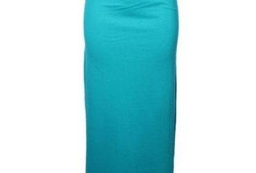 Belted Long Skirt – Sea Green