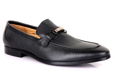Salvatore Ferragamo Black Logo Loafers| Black