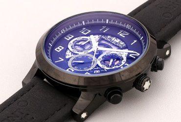 Mont Blanc Black Casing Leather Watch | Black