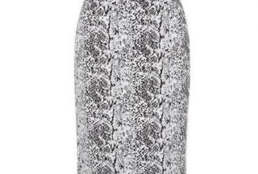 Planet Jacquard Textured Skirt