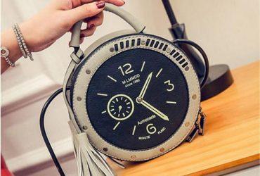 Crossbody Round Clock Shaped Handbag