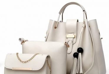 Handbag Set With Chain Purse – Beige