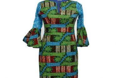 Swarovski Stoned Ankara Dress With La…