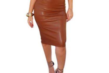 Women's Leather High Waist Skirt – Br…