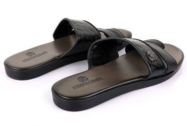 Roberto Cavalli Toe Slide | Black
