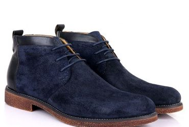 Billionaire Ankle Lace Up Boots | Navy Blue