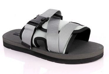 Prada Buckle Strap Slide | Grey