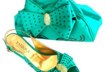 Shoes And Bag- Green