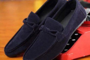 Front Designed Loafers – Blue