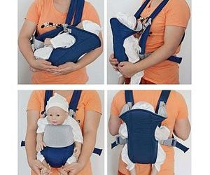 generic-universal-multifunctional-baby-carrier-breathable-front-back-carrying-sling-wrap-seat-navy-blue