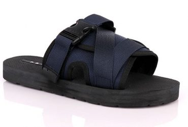 Prada Buckle Strap Slide | Blue Black