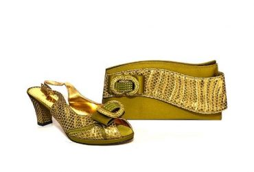 Leather Shoe & Bag – Olive Green