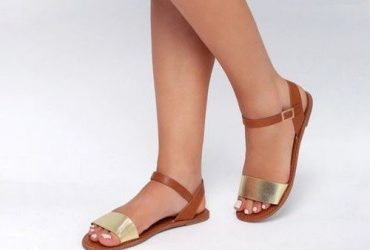 Stroll Girl Women Sandals – Brown And Gold