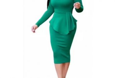 Ladies' Bodycon Dress – Green
