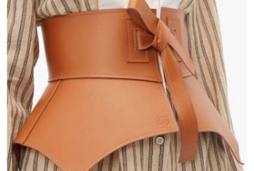 Wide Leather Underburst Corset Belt – Brown