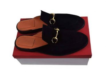 Senior Men's Suede Horsebit Half Shoe…