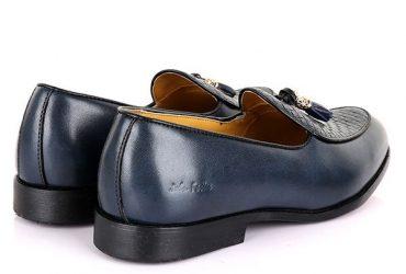 John Foster Plain Wooven Design Tassel | Navy Blue