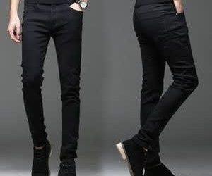 – PlMen's Stock Jean – Plain Blackain Black