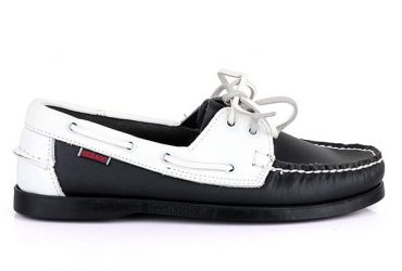 Sebago Dockside Shoe – Black & White