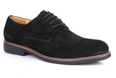 Billionaire Suede Lace Up Shoe | Black