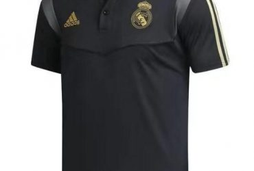 Real Madrid Prematch Polo | Black Gold