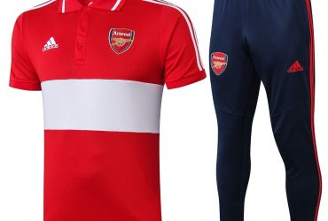 Arsenal Prematch Polo Tracksuit   Red White Blue