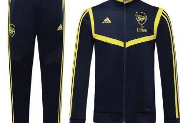 Arsenal Presentation Tracksuits | Navy Blue Yellow